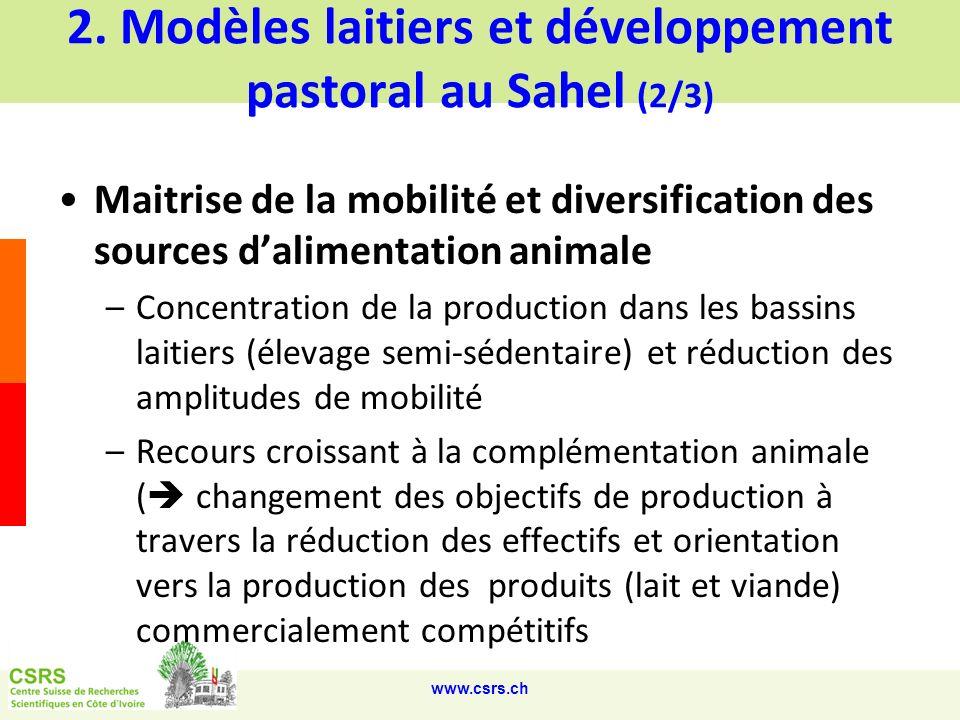 2. Modèles laitiers et développement pastoral au Sahel (2/3)