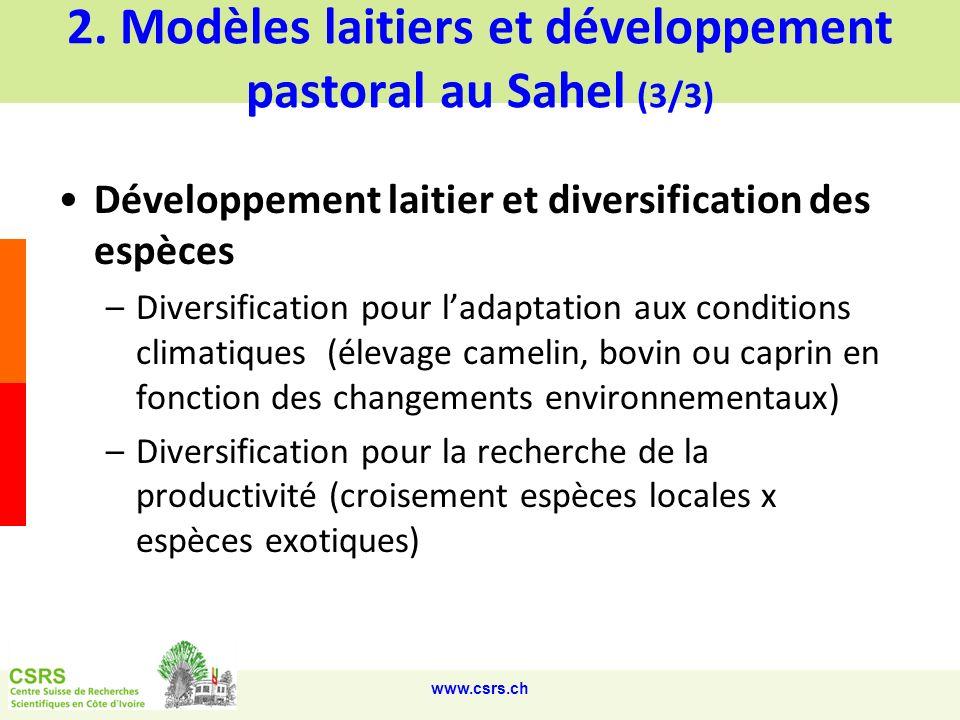 2. Modèles laitiers et développement pastoral au Sahel (3/3)
