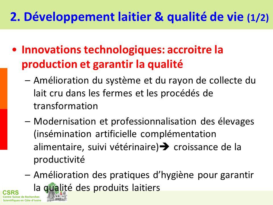2. Développement laitier & qualité de vie (1/2)
