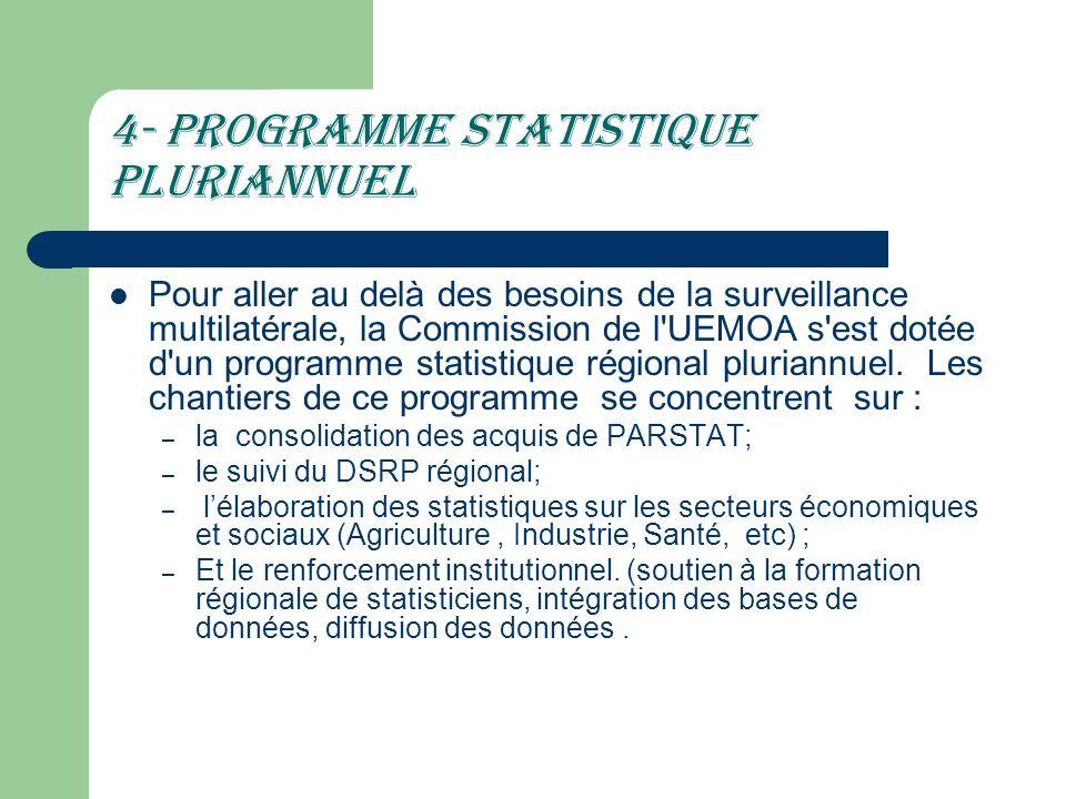 4- Programme statistique pluriannuel
