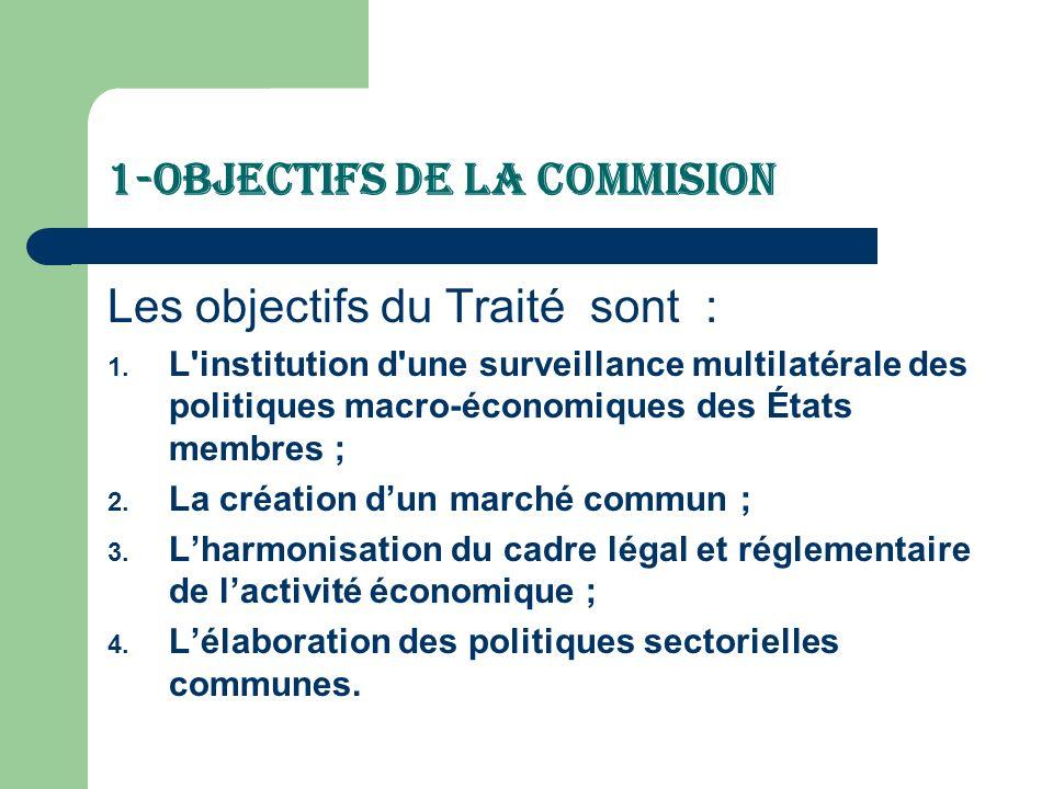 1-Objectifs de la Commision