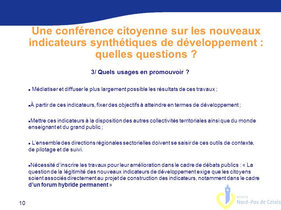 Une conférence citoyenne sur les nouveaux indicateurs synthétiques de développement : quelles questions