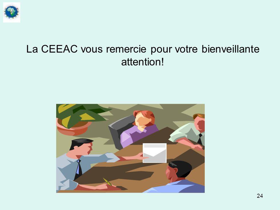 La CEEAC vous remercie pour votre bienveillante attention!