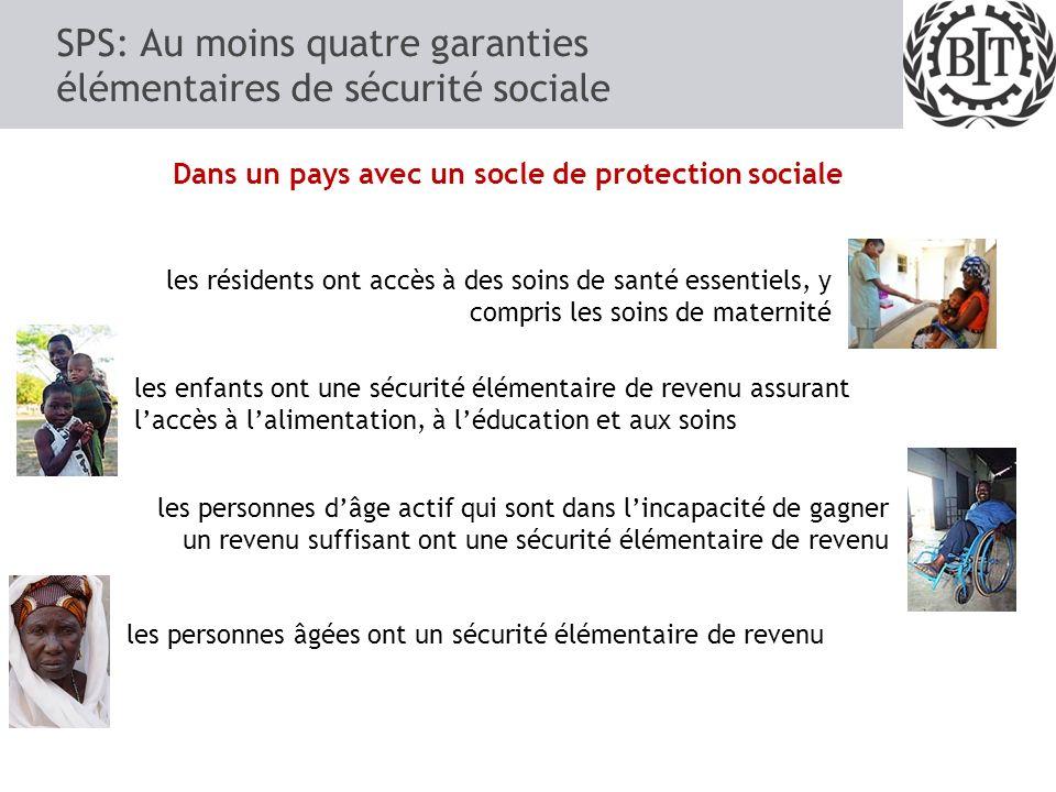 SPS: Au moins quatre garanties élémentaires de sécurité sociale