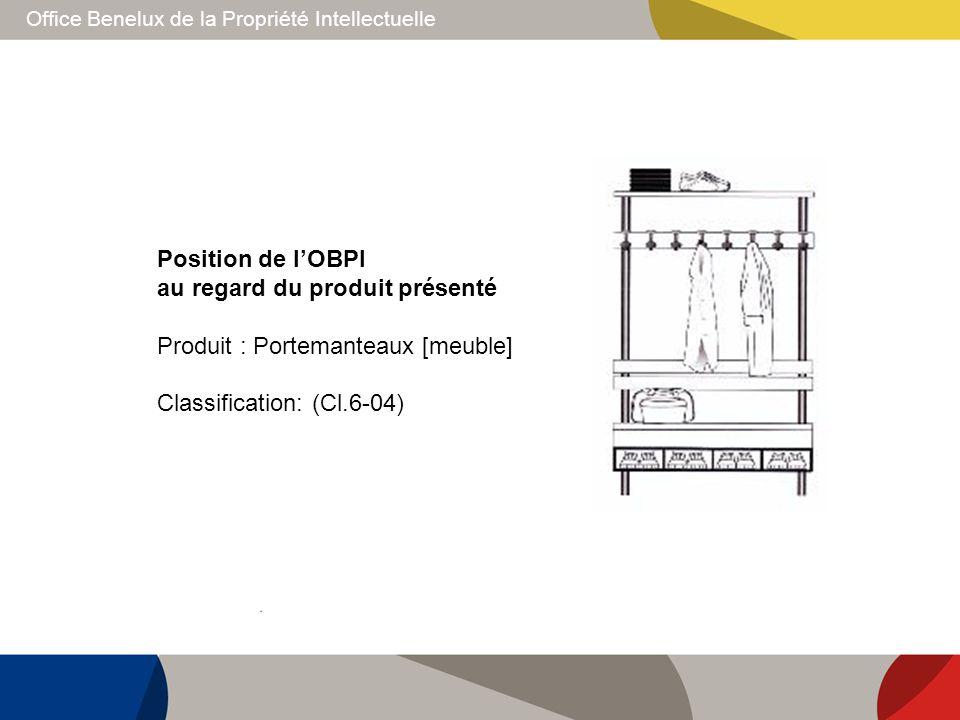 Position de l'OBPI au regard du produit présenté.