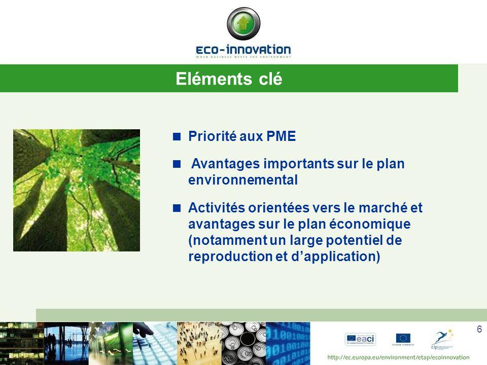 Eléments clé Priorité aux PME