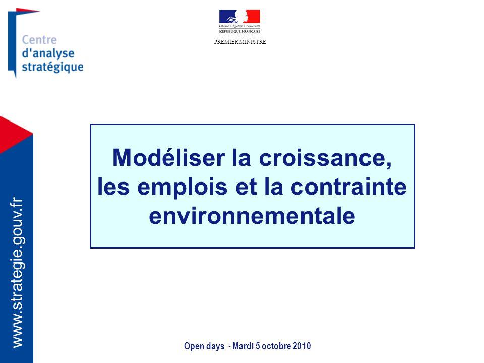 Modéliser la croissance, les emplois et la contrainte environnementale