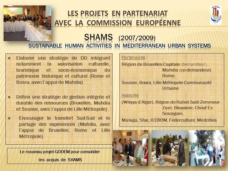Les projets EN PARTENARIAT avec la Commission Européenne