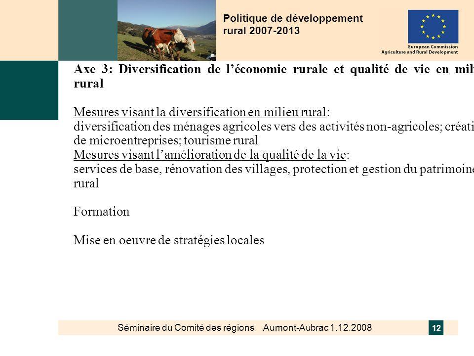 Politique de développement rural 2007-2013