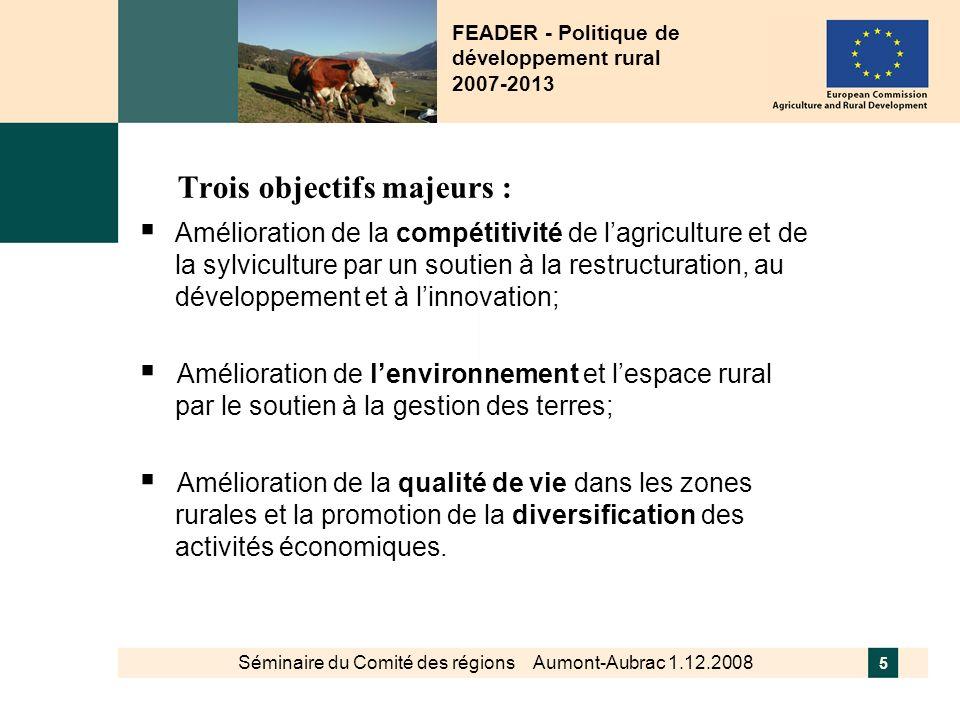 FEADER - Politique de développement rural 2007-2013