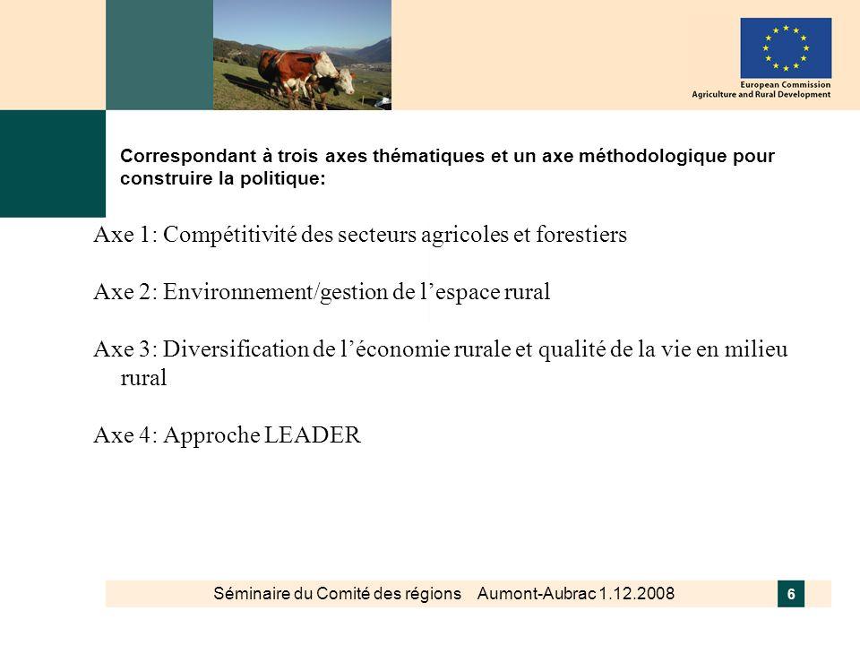 Séminaire du Comité des régions Aumont-Aubrac 1.12.2008