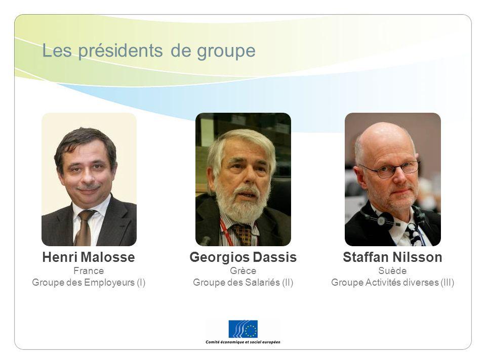 Les présidents de groupe