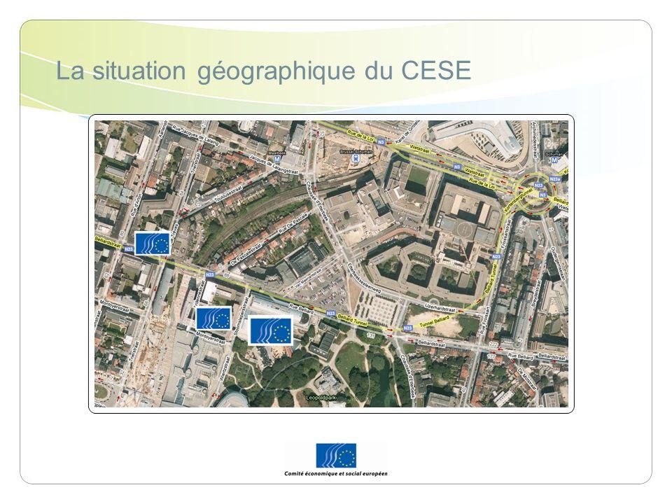 La situation géographique du CESE