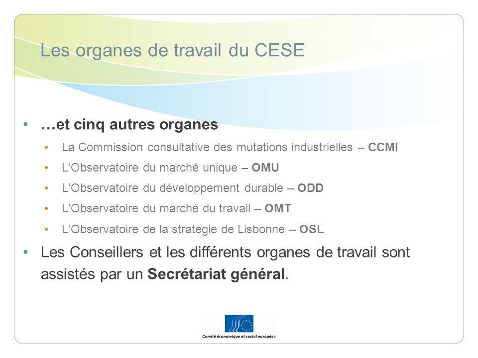 Les organes de travail du CESE