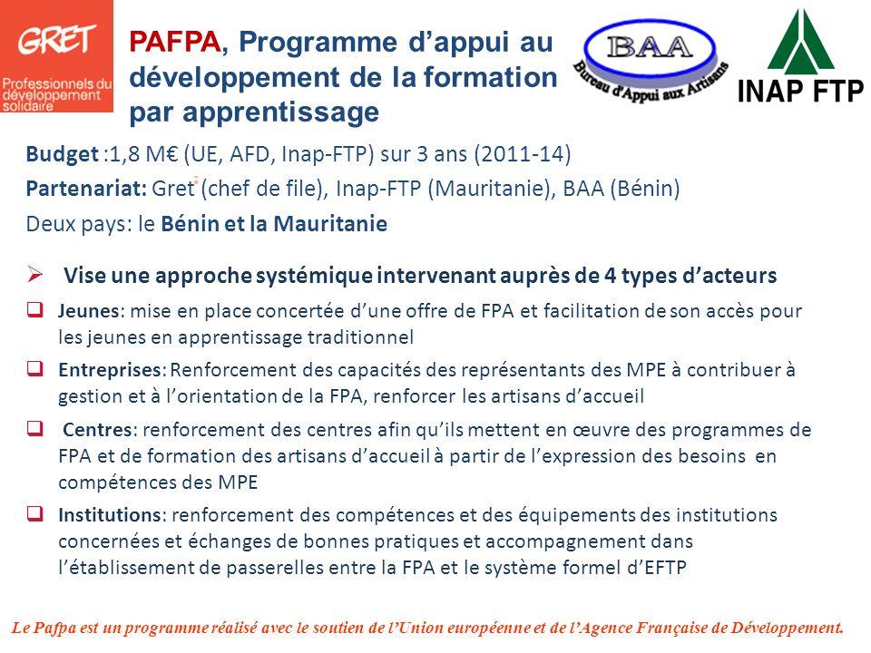 PAFPA, Programme d'appui au développement de la formation par apprentissage