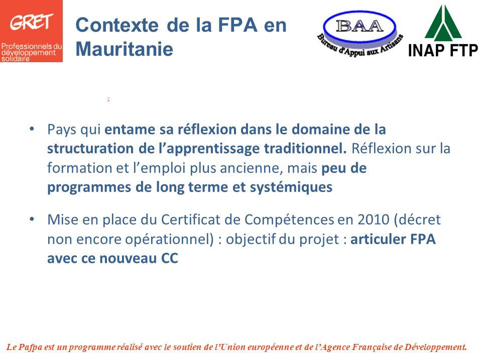 Contexte de la FPA en Mauritanie