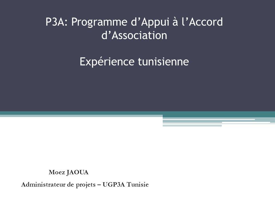 P3A: Programme d'Appui à l'Accord d'Association Expérience tunisienne
