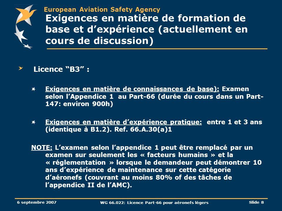 WG 66.022: Licence Part-66 pour aéronefs légers