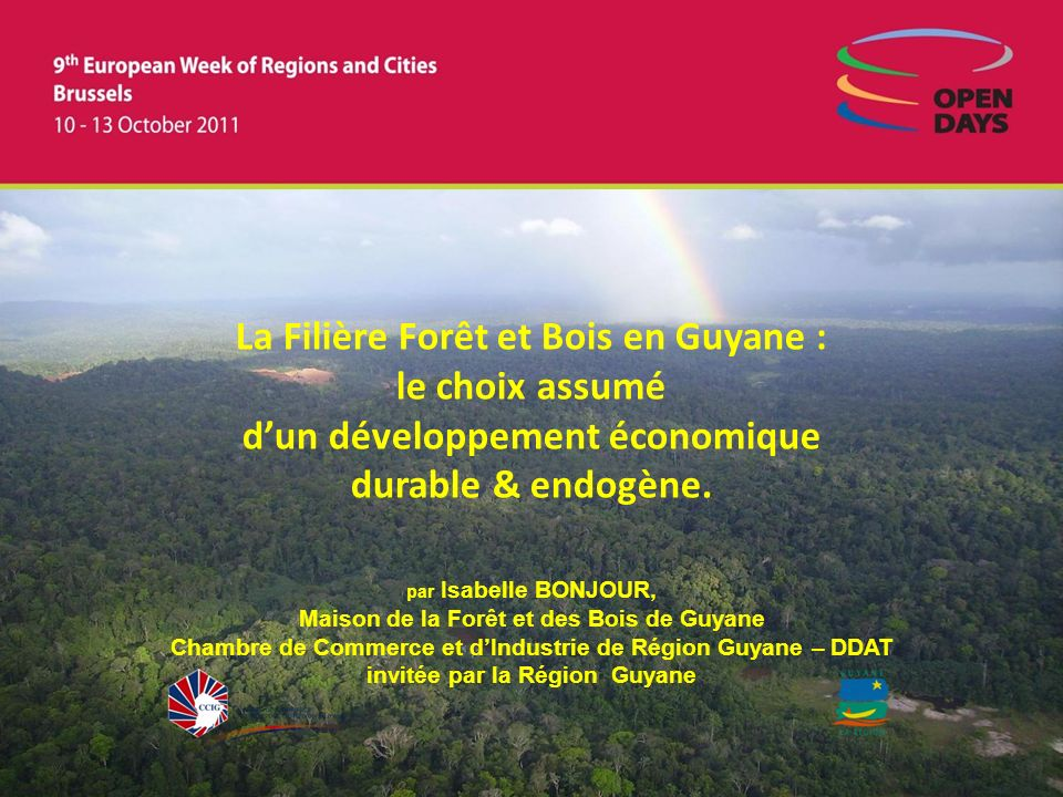 La Filière Forêt et Bois en Guyane : le choix assumé d'un développement économique durable & endogène.