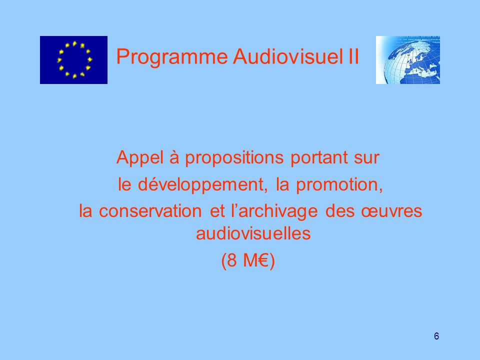 Programme Audiovisuel II