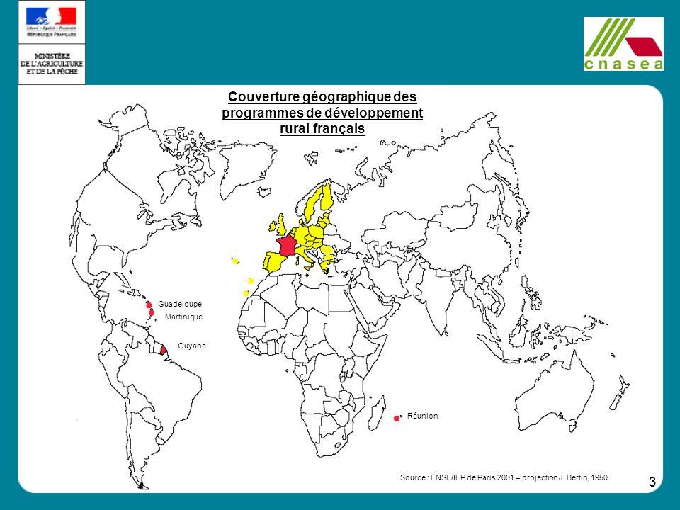 Couverture géographique des programmes de développement rural français