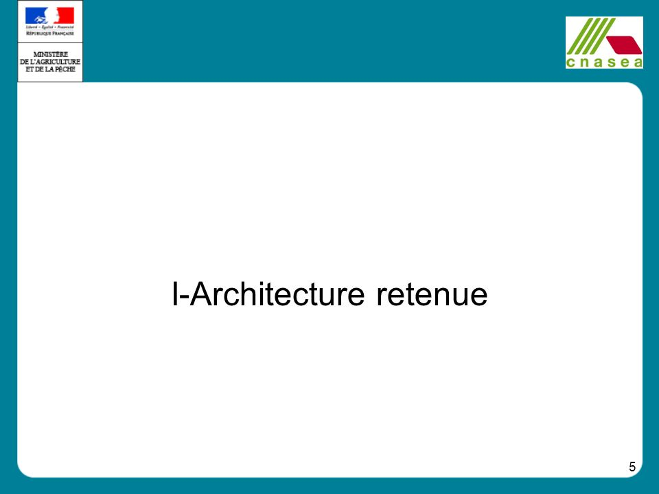 I-Architecture retenue