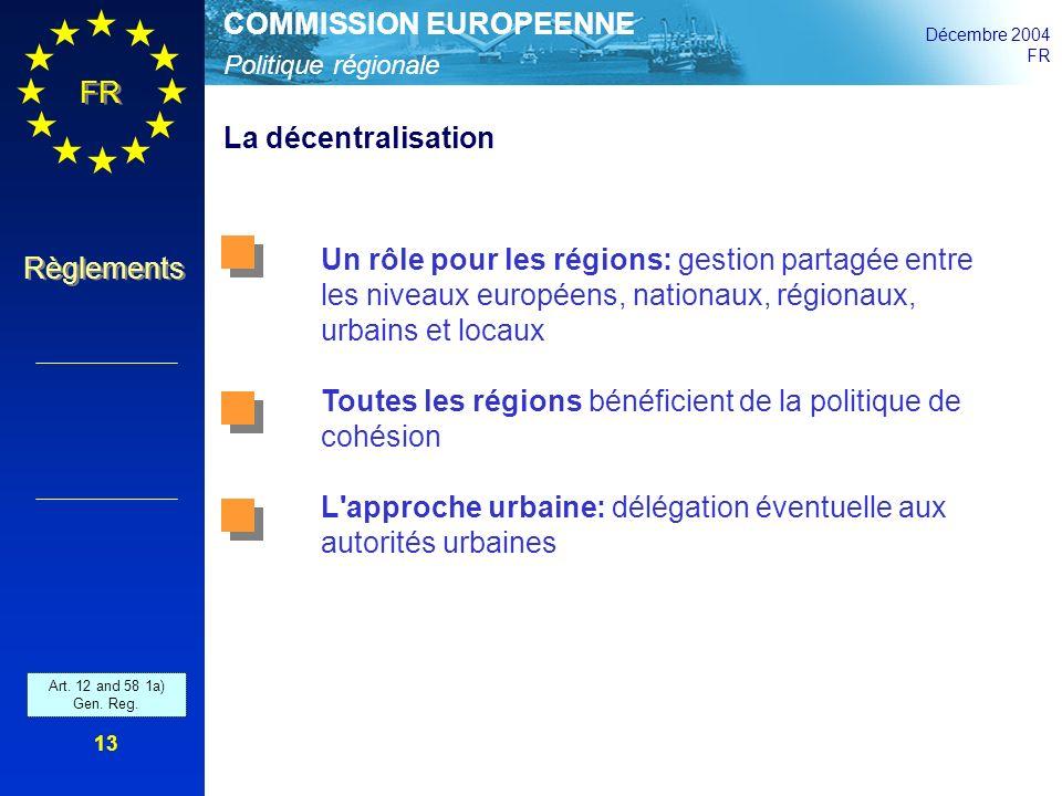 Toutes les régions bénéficient de la politique de cohésion