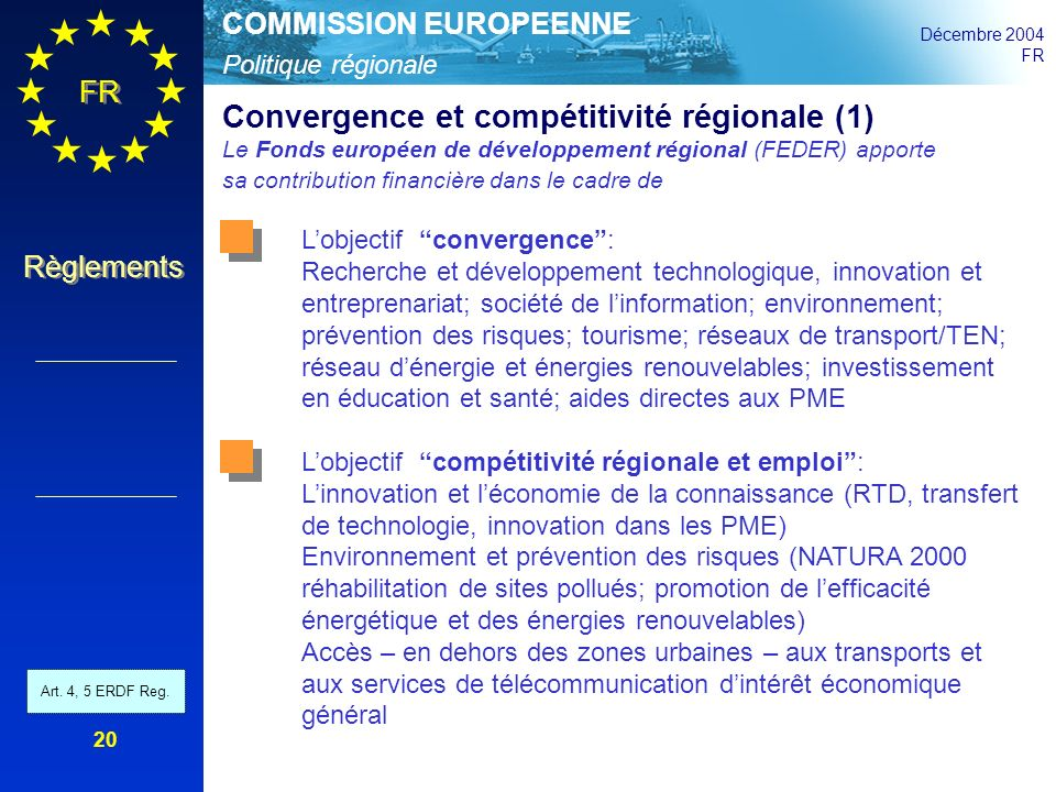 Convergence et compétitivité régionale (1)