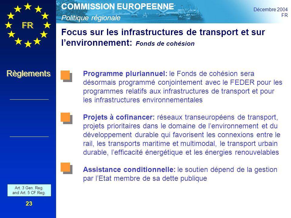 Focus sur les infrastructures de transport et sur l'environnement: Fonds de cohésion