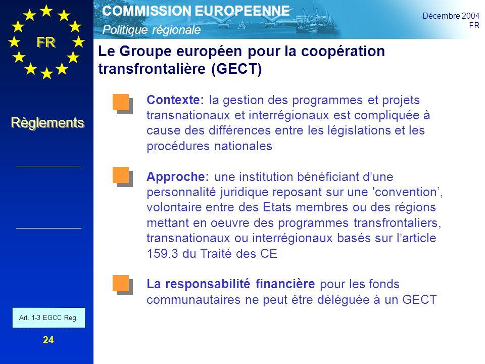 Le Groupe européen pour la coopération transfrontalière (GECT)