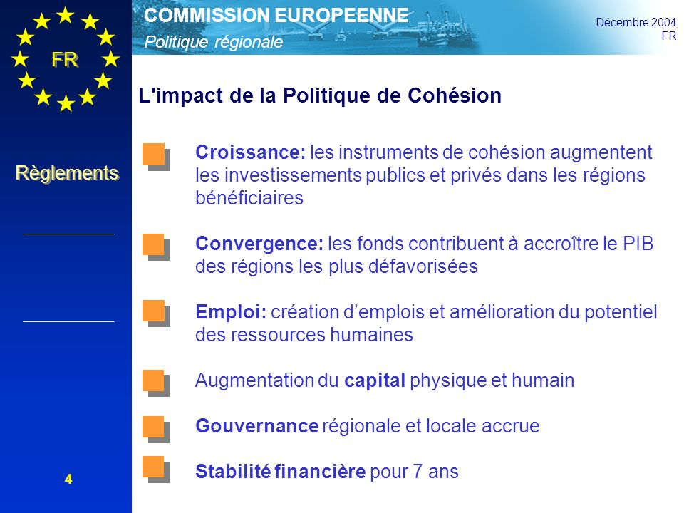 L impact de la Politique de Cohésion