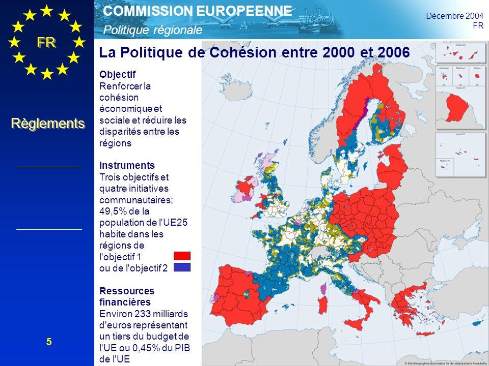La Politique de Cohésion entre 2000 et 2006