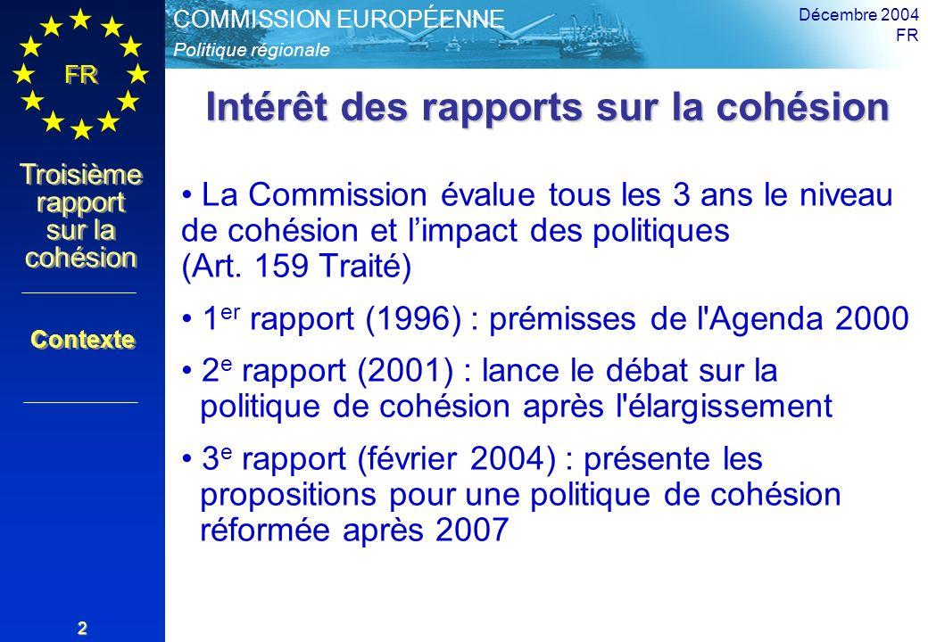 Intérêt des rapports sur la cohésion