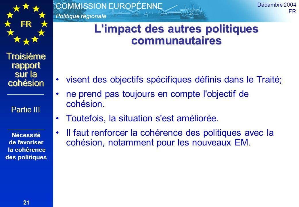L'impact des autres politiques communautaires