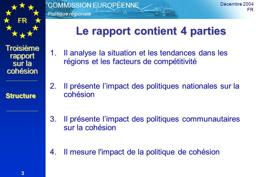 Le rapport contient 4 parties