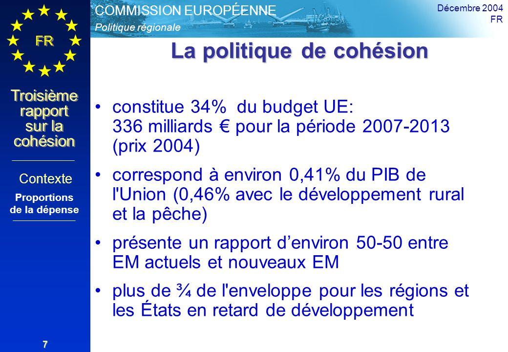 La politique de cohésion