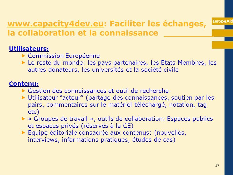 Axe 4: Communication, gestion des connaissances et formation __________