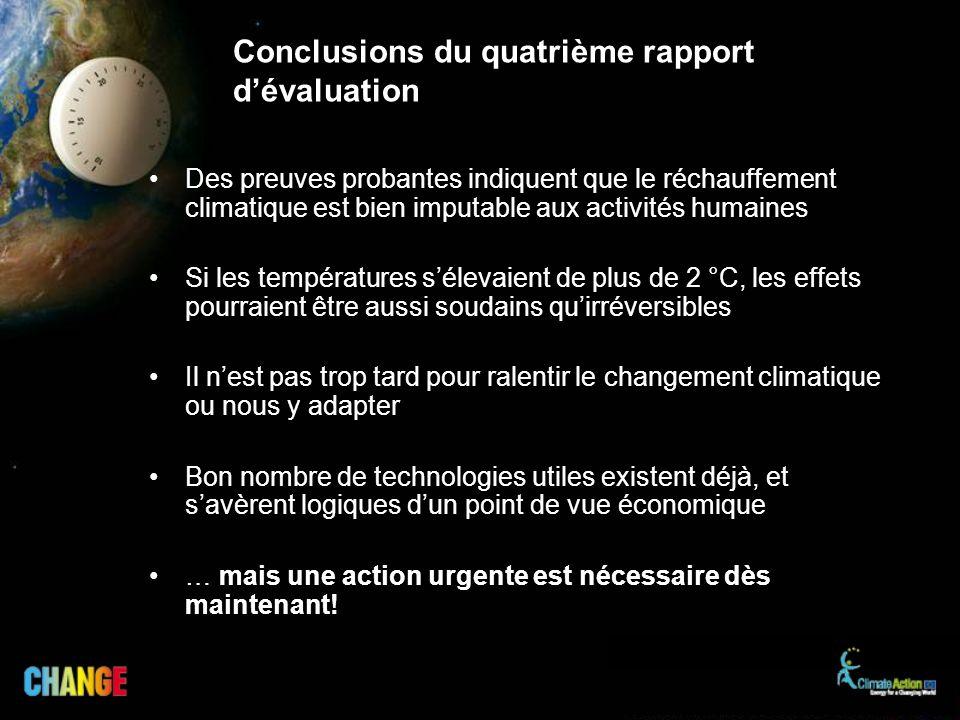 Conclusions du quatrième rapport d'évaluation
