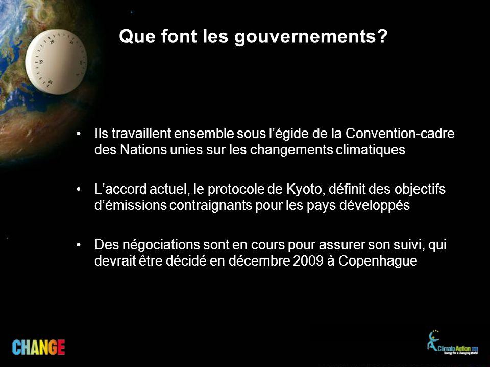 Que font les gouvernements