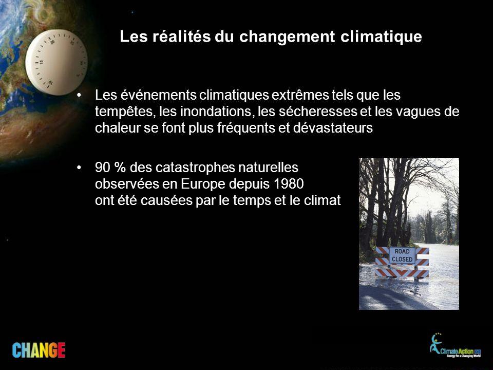 Les réalités du changement climatique