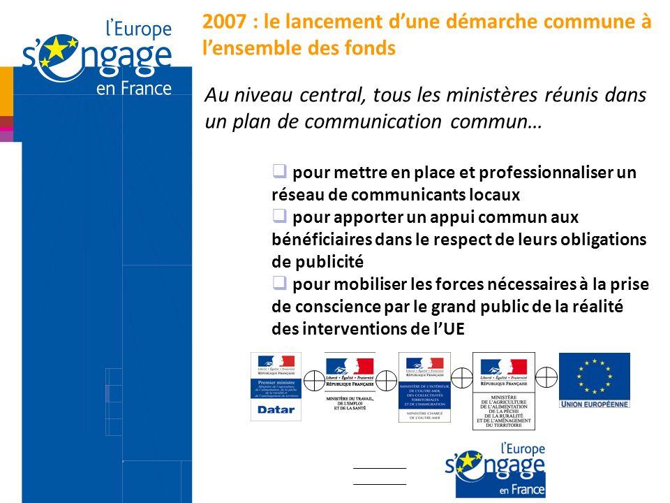 2007 : le lancement d'une démarche commune à l'ensemble des fonds