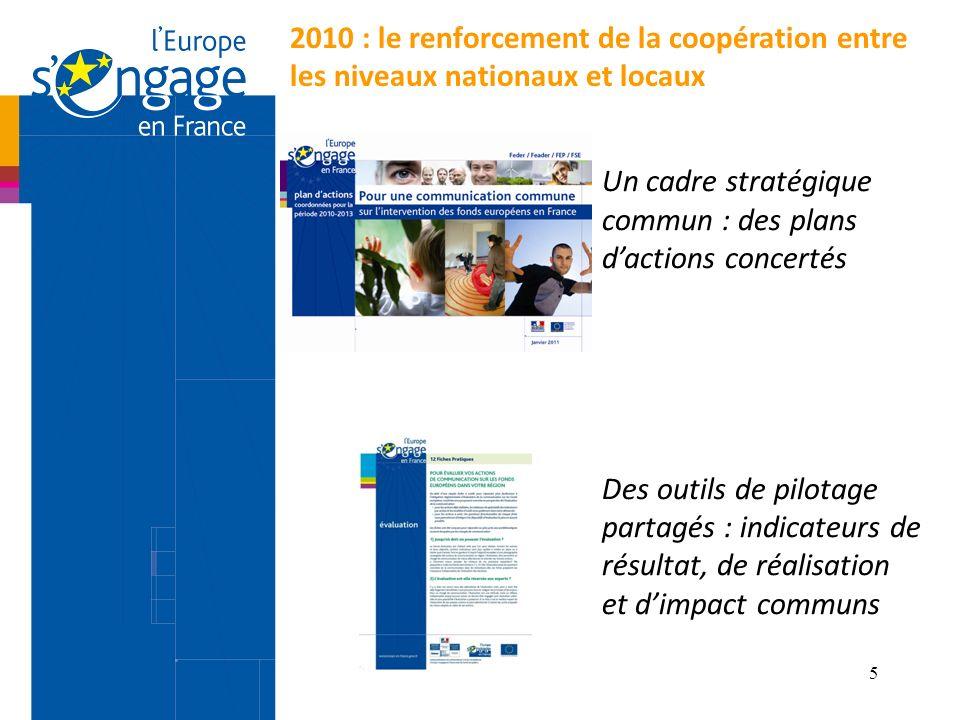 Un cadre stratégique commun : des plans d'actions concertés