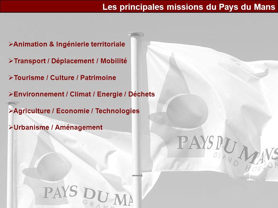Les principales missions du Pays du Mans