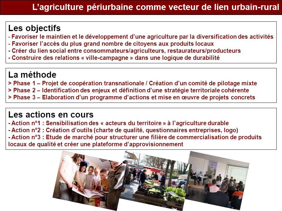 L'agriculture périurbaine comme vecteur de lien urbain-rural