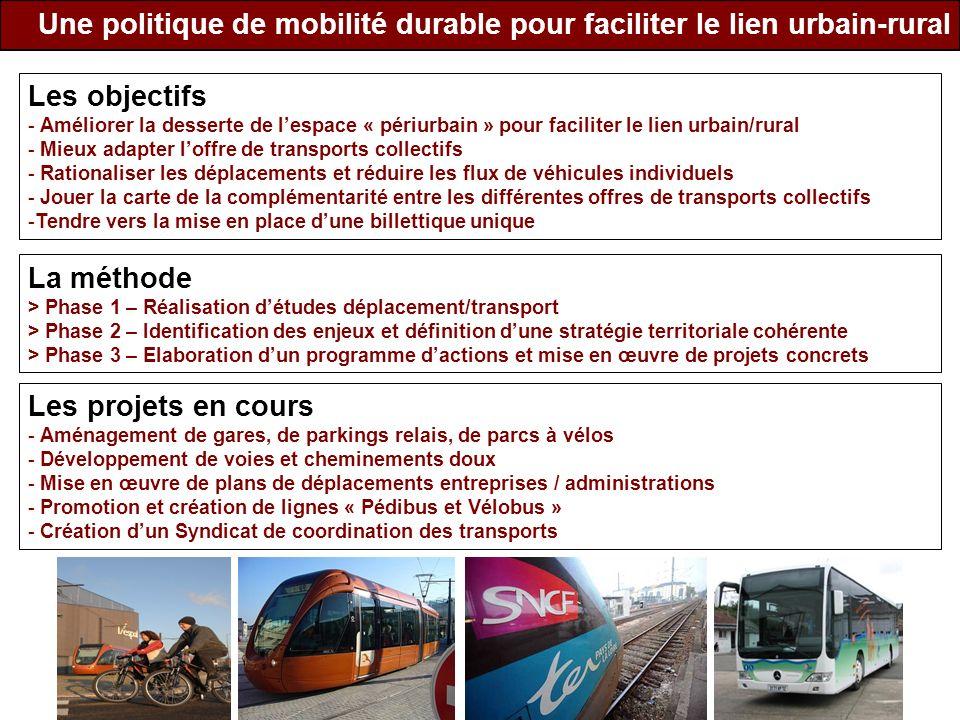 Une politique de mobilité durable pour faciliter le lien urbain-rural