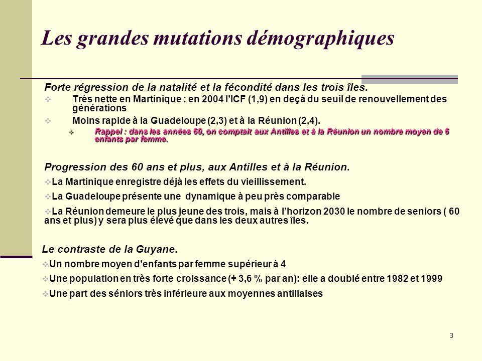 Les grandes mutations démographiques