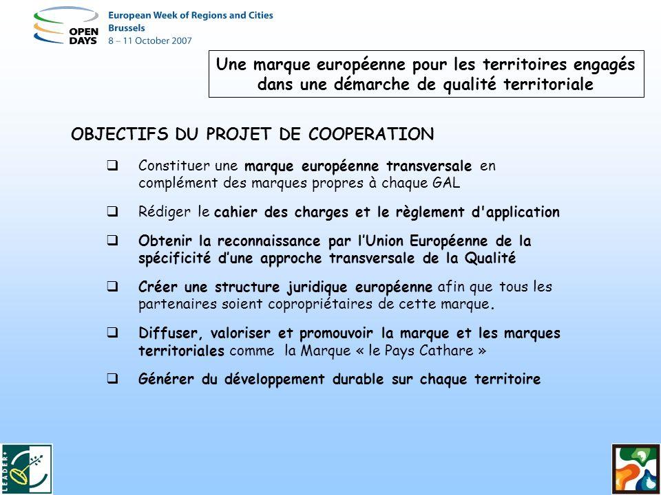 OBJECTIFS DU PROJET DE COOPERATION
