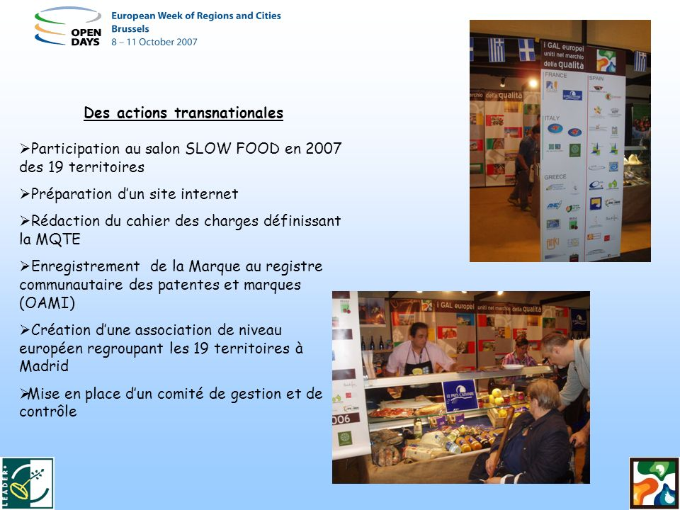 Des actions transnationales