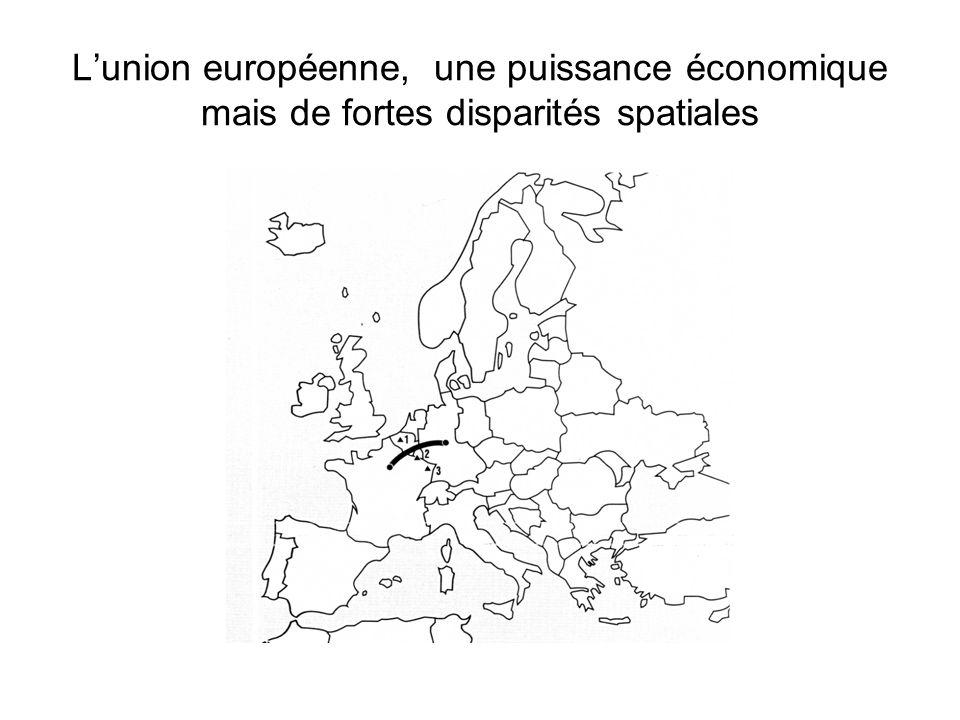 L'union européenne, une puissance économique mais de fortes disparités spatiales