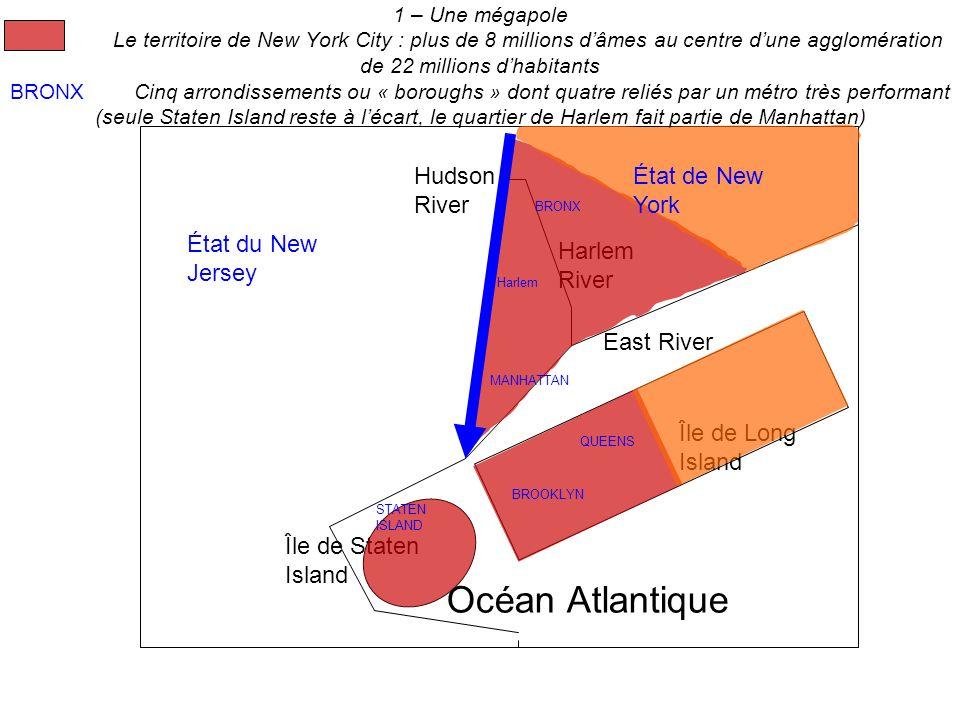 Océan Atlantique Hudson River État de New York État du New Jersey